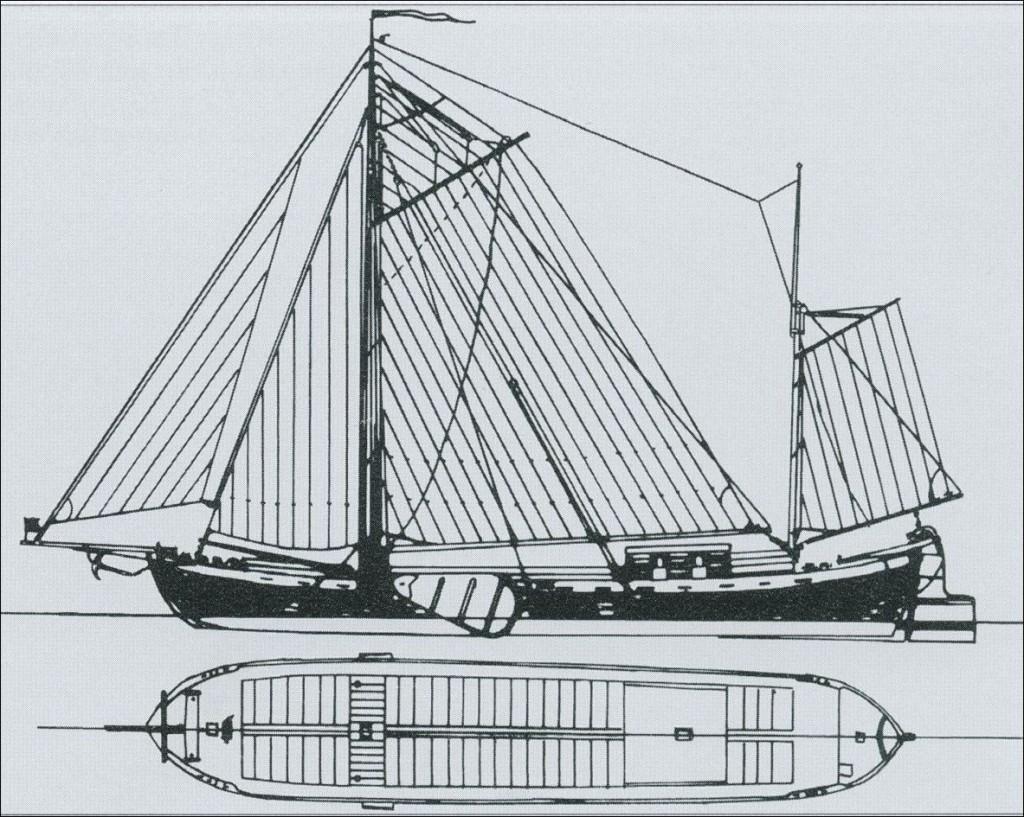 In Dorsten gebautes Schiff mit geringem Tiefgang