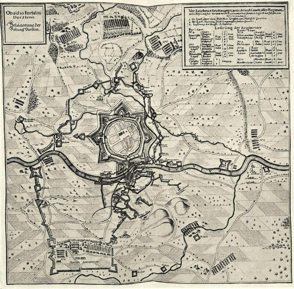 Belagerungskarte der Hessen im Dreißigjährigen Krieg