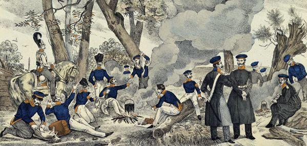 Biwak der Preußen 1848