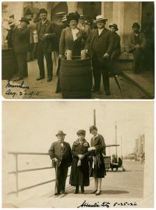 Eisendraths zu Besuch in Deutschland: oben Hofbräuhaus München 1910