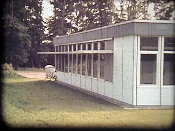 EW-Pavillon auf dem Hof Schürmann 1971