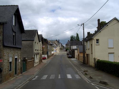 Straße in Ernee