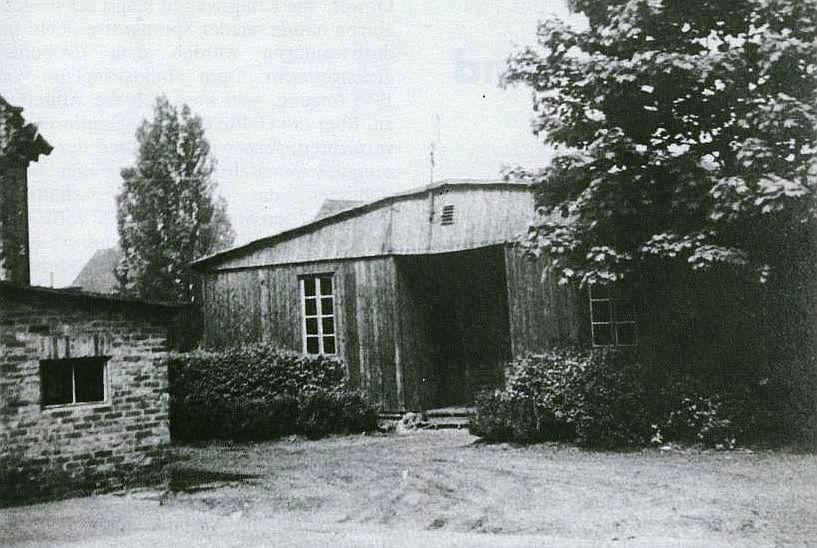 Baracke am Holzplatz diente als Sitz der Nachkriegsverwaltung