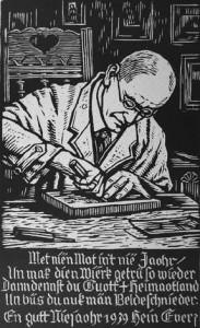Heinrich Everz, Selbstbildnis