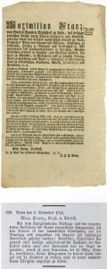 Emigranaten-Verordnung 1792; dadsurch sollten franz. Emigranten verhindert werden