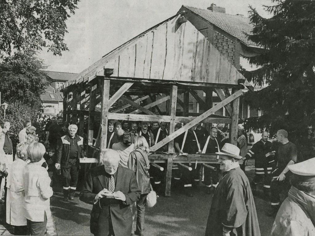 Umsetzung des Feuerwehrhauses in Dorf Hervest