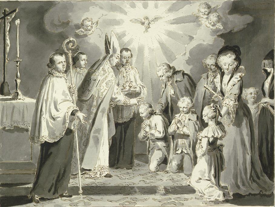 Firmungsreise, Darstellung von Pietro Antonio Novelli