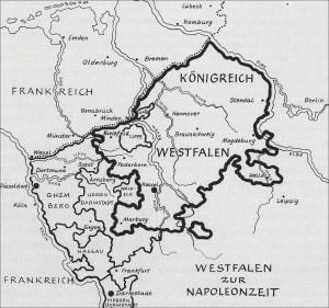 Westfalen in französischer Zeit