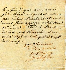 Brief aus der französischen Emigrantenzeit