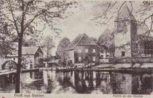Kirche in Gahlen mit Mühlenteich