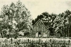 Galgenhof; Zeichnung von J. GRamse