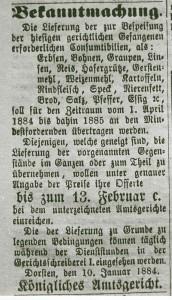 Inserat vom 10. Januar 1884