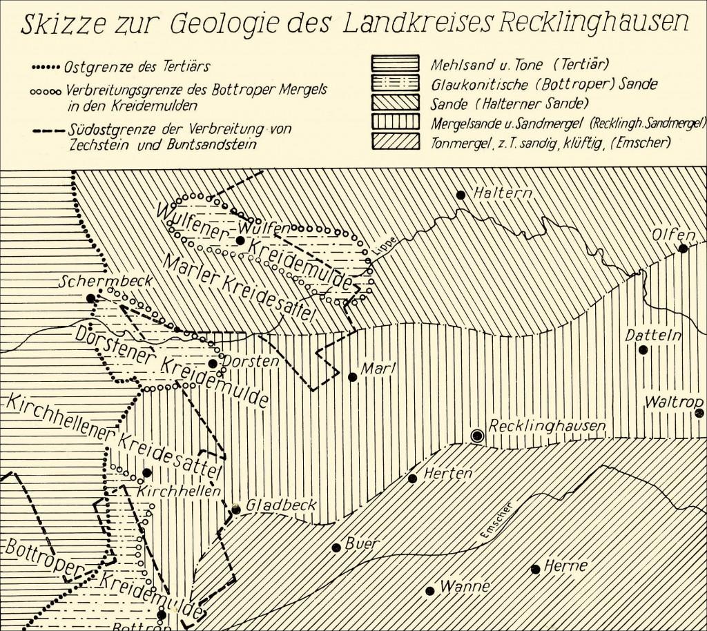 Karte zur Geologie