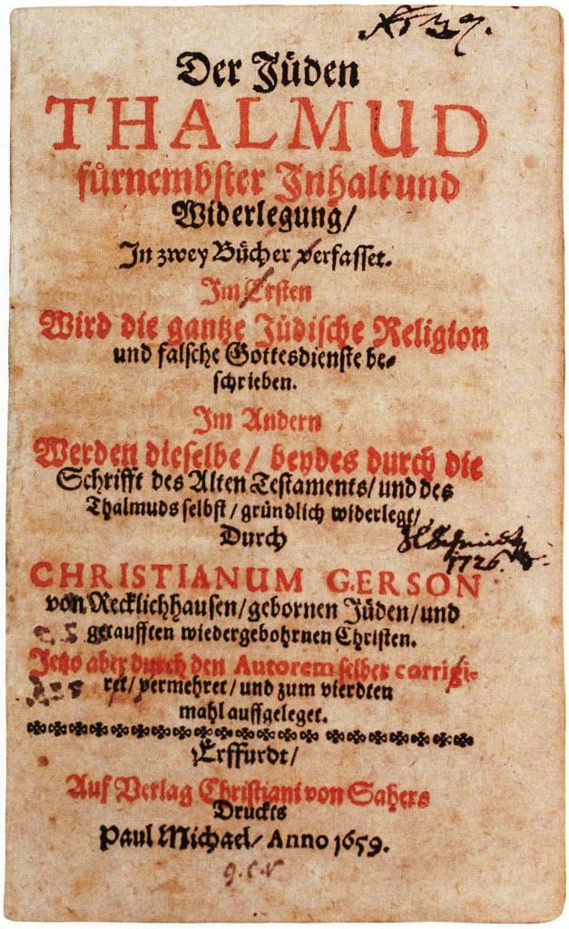 Titelseite (Schrift im Jüd. Museum Westfalen)