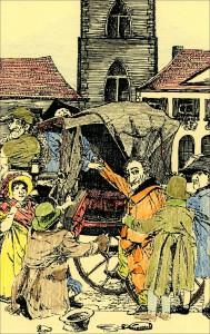 Goethe besteigt in Dorsten die Kutsche