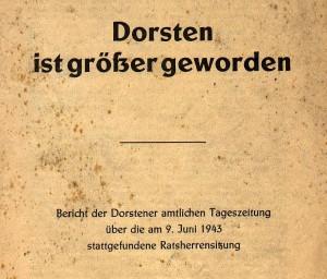 Titelseite des Hefts zur Eingemeindung 1943