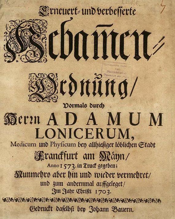 Hebammen-Ordnung von 1703