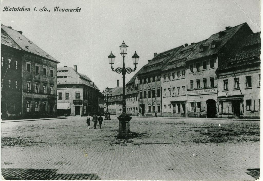 Hainichen vor der DDR-Zeit (Postkarte)