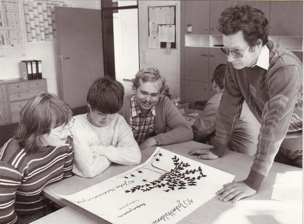 Schulleiter ..................., um 1986