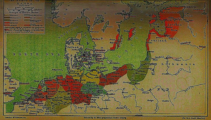 Hanse-Karte um 1400