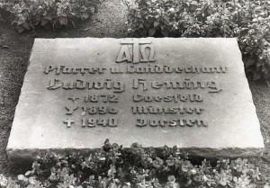 GRabstätte Hemings 1940