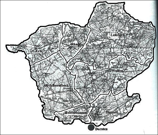 Karte der Herrlichkeit Lembeck