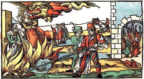 Verbrennung, Darstellung von 1555