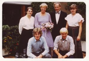 Familie Honsel (Silderhochzeit 1982); Foto: privat