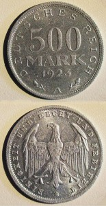 500-Mark-Münze 1923