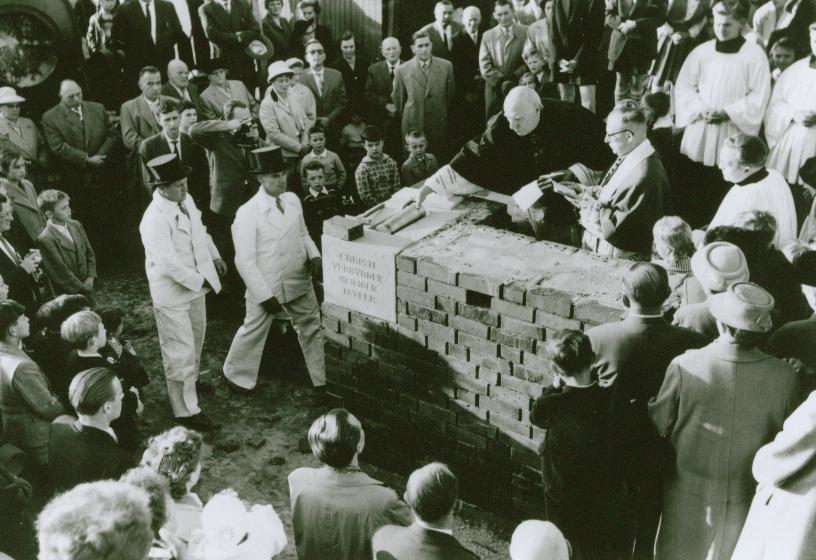 Grundsteinlegung 1958