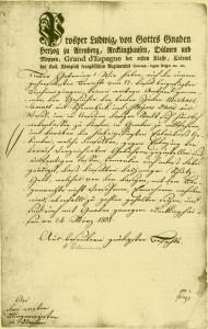 Erste Zuzugsgenehmigung für Juden 1808