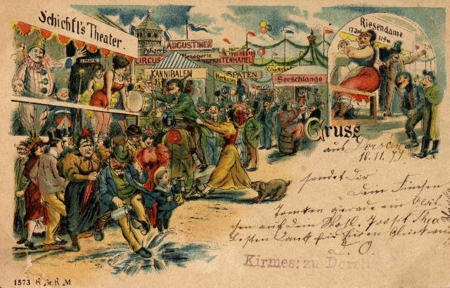Katharinenkirmes und -markt, Postkarte geschriebven in Dorsten1899