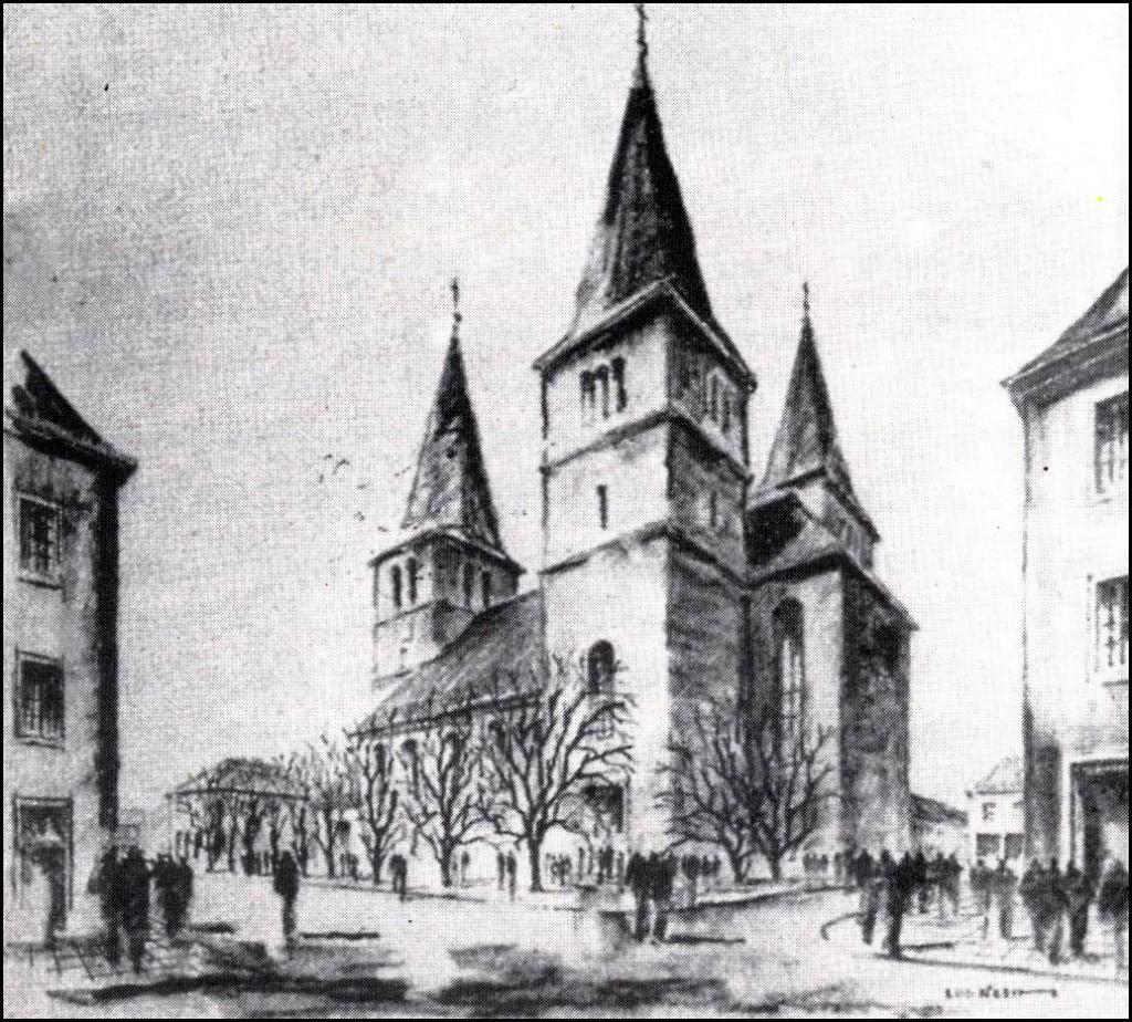 Agatha-Wiederaufbau-Entwurf von Ludwig Klein