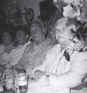 Karl Knorr mit Frau (Zeitungsbild)