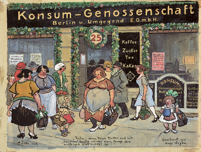 Zeichnung von Heinrich Zille 1924