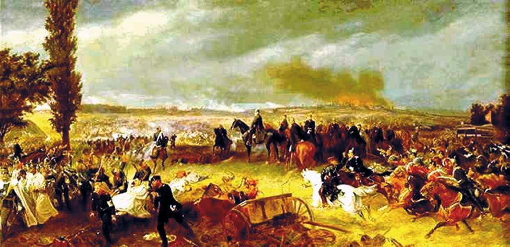 Schlacht von Königgrätz, Gemälde von Georg Bleibtreu