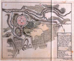 Siebenjähriger Krieg, Karte von Dorsten 1761