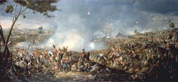 Schlacht von Waterloo 1815, Gemälde von William Sattler
