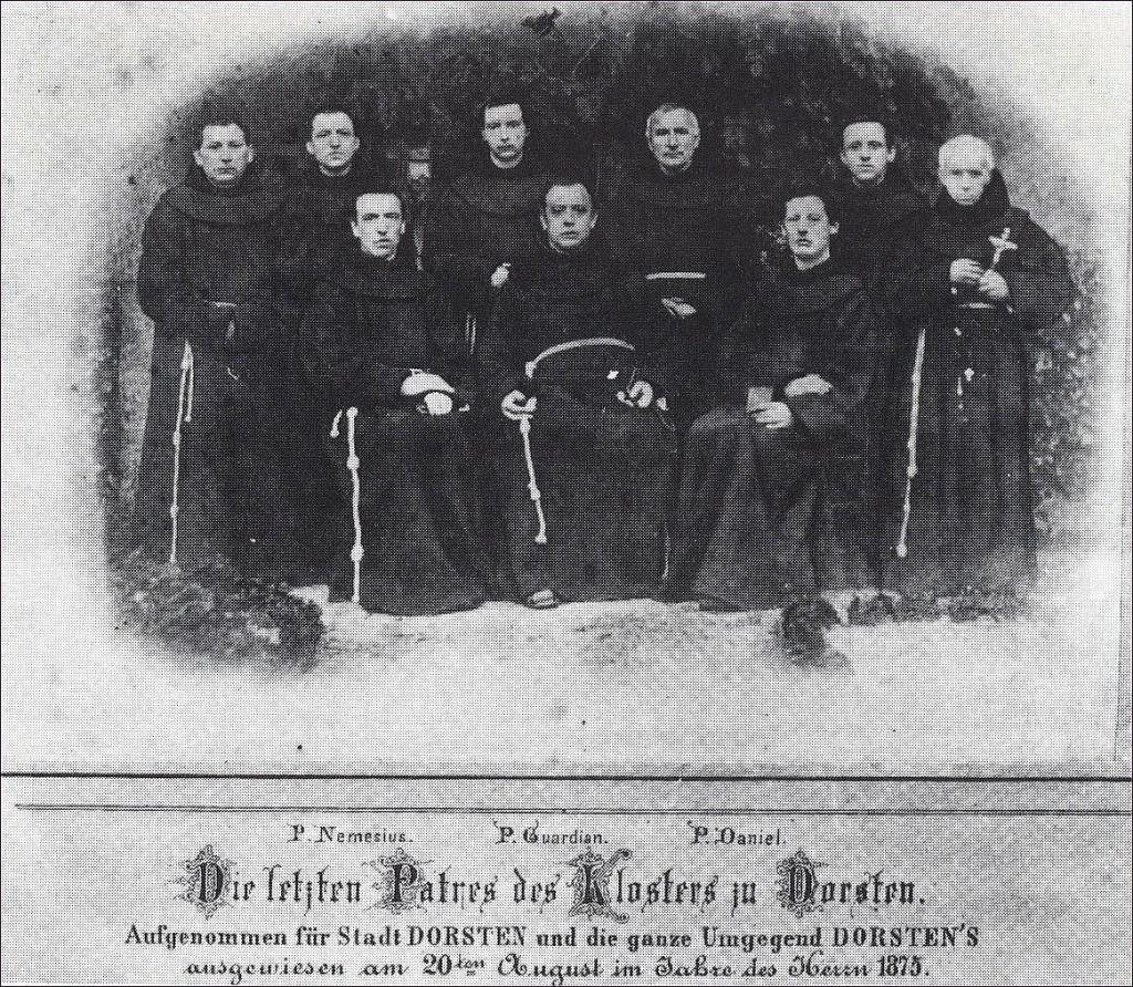 Die letzten Franziskaner in Dorsten vor ihrem Exil 1875