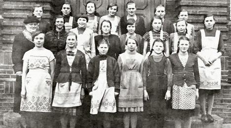 Larentiusschule mit Frl. Pöter, 1956