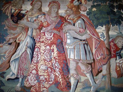 Wandteppich im Schlossmuseum