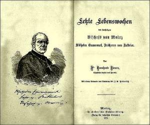 Pfarrer Bernard Liesens Buch über Bischof Ketteler 1877