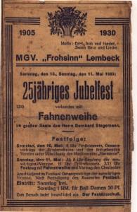 """MGV """"Frohsinn"""" Lembeck"""