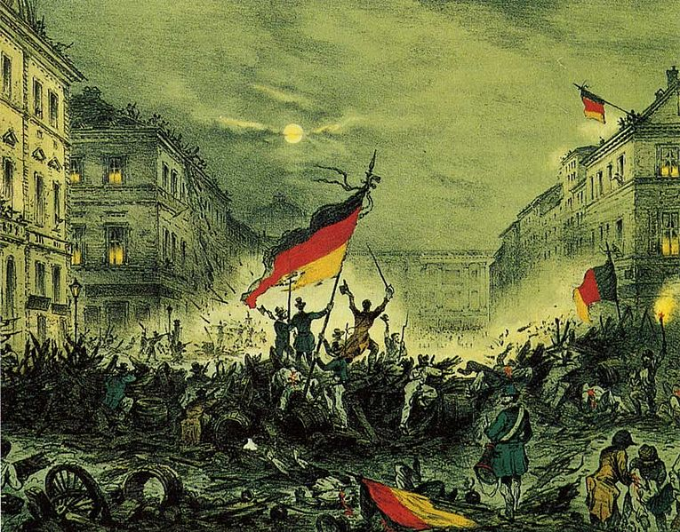 Barrikadenkämpfe in Berlin 1848