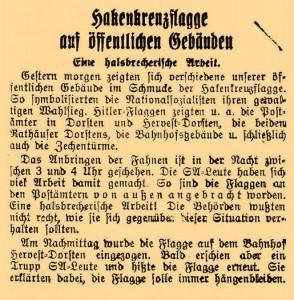 Dorstener Volkszeitung vom 7. März 1933