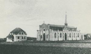 Marienkirche mit Pfarrhaus um 1909