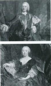 Graf Theodor Ferdinand von Merveldt, darunter seine Frau