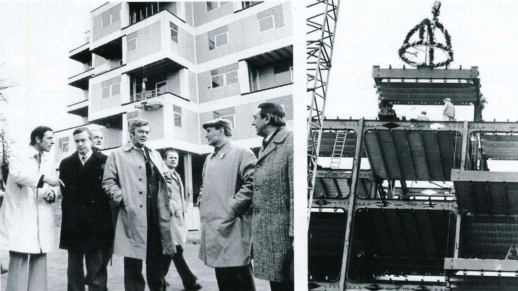 Richtfest mit NRW-Innenminister Weyer 1974