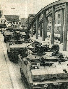 Manöver 1982: Panzer rollen durch Dorsten