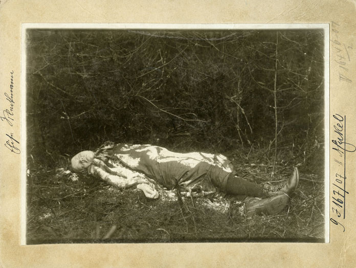 Die Leiche des Kindes (Polizeifoto)